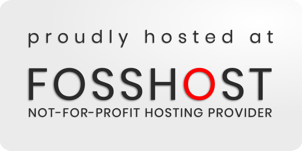 Hosted by Fosshost
